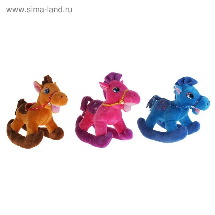 """Мягкая игрушка """"Лошадь качалка"""", цвета МИКС"""