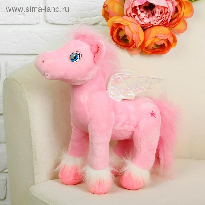 """Мягкая игрушка """"Лошадь с крыльями"""" на ногах мех, цвета МИКС"""