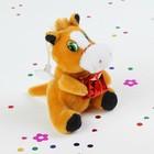"""Мягкая игрушка присоска """"Лошадь"""" с подарком, цвета Микс"""