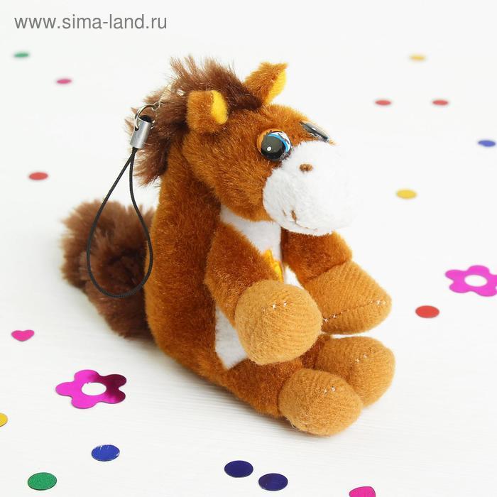 """Мягкая игрушка подвеска """"Лошадь с цветком"""", цвета МИКС"""