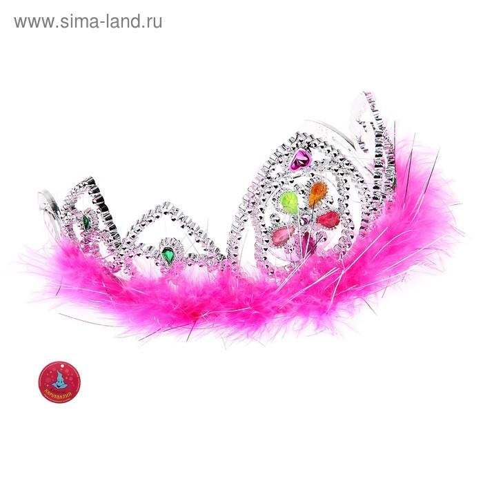 """Корона меховая световая """"Принцесса"""", цвета МИКС"""