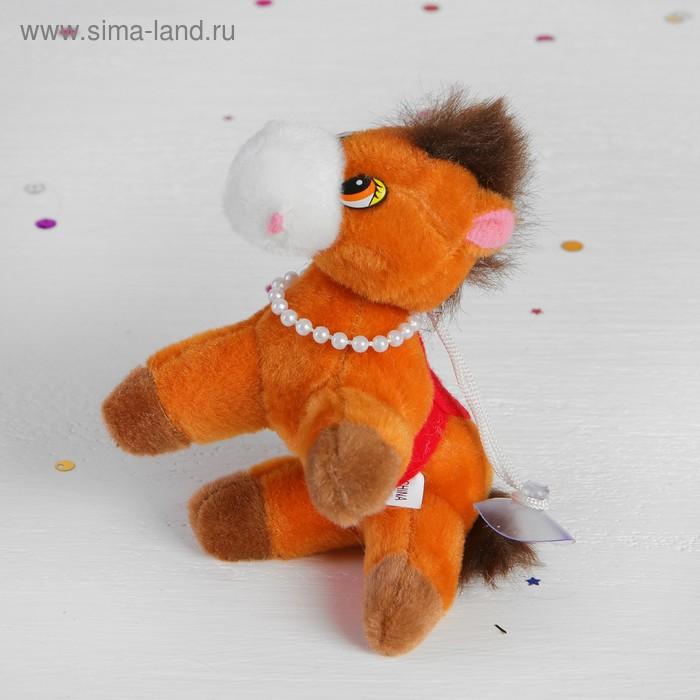 """Мягкая игрушка-присоска """"Лошадь с бусами"""" мордочка белая, цвета МИКС"""