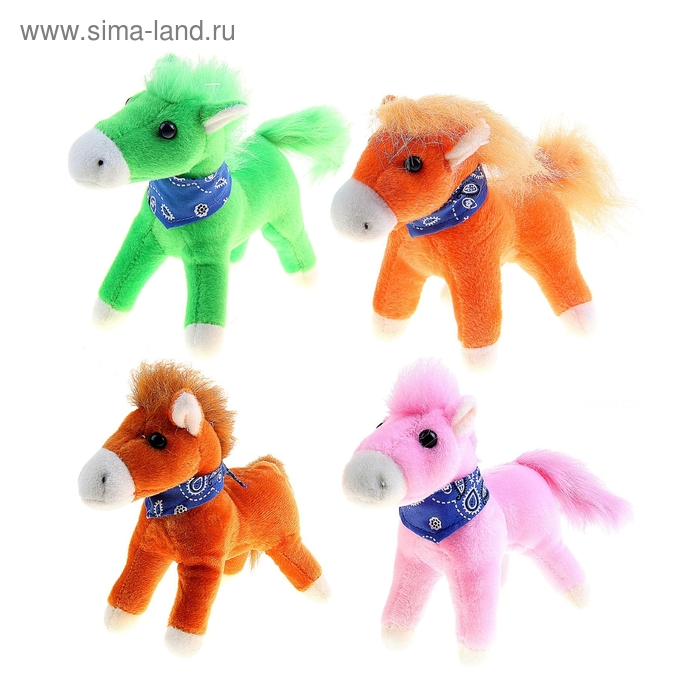 """Мягкая игрушка """"Лошадь с платком"""" цвета МИКС"""