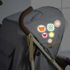 Наклейки светоотражающие на коляску «Счастливый малыш» (набор)
