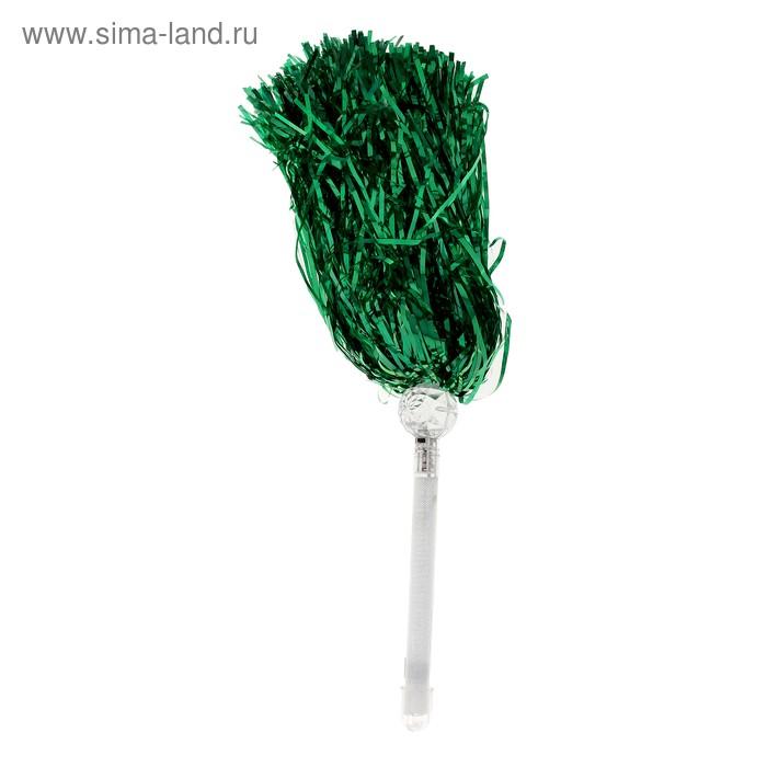 Карнавальный помпон световой, зеленый