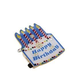 Карнавальный значок световой 'С днем рождения' Ош
