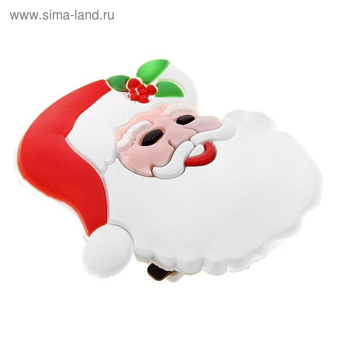"""Карнавальный значок световой """"Дед мороз"""""""