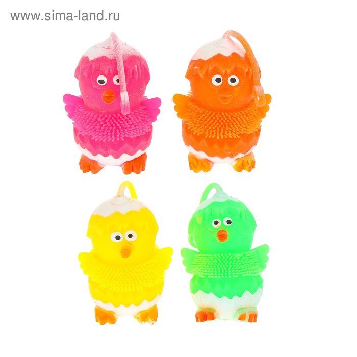 """Ёжка резиновый """"Цыплёнок"""", световой, цвета МИКС"""