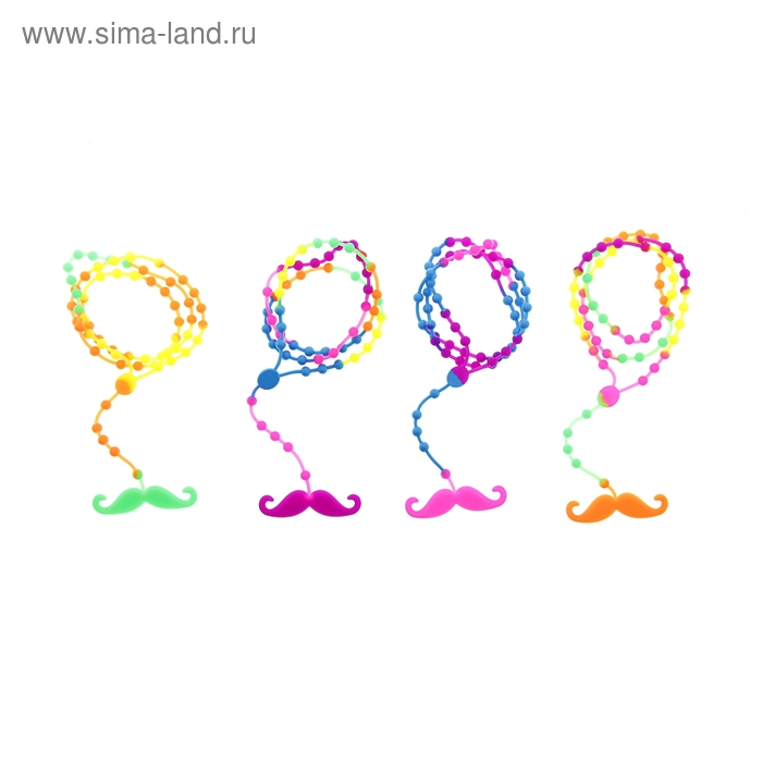 """Карнавальный браслет-подвеска """"Креатив усы"""", цвета МИКС"""
