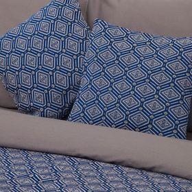 Наволочка декоративная 'Этель' Восточные мотивы синий 40х40 ± 2 см Ош