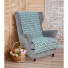 """Накидка на кресло """"Этель"""" Голубые ромбы 70х160 ± 2 см"""