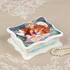 Шкатулка «Ангелочки», белая, 16×14 см, лаковая миниатюра