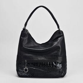 Сумка жен L-88425, 29*13*28, 2 отд на молниях, 2 н/кармана, черный