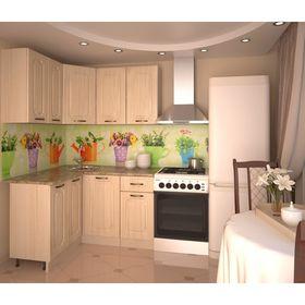 Кухонный гарнитур, грецкий орех 14, 1200 × 1400 мм, левый