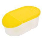 Емкость для сыпучих продуктов 0,5 л Wave, цвет жёлтый