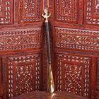 """Ложка для обуви латунь рукоятка дерево """"Якорь"""" 51х5,5х2,5 см"""