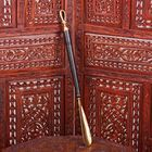 """Ложка для обуви латунь рукоятка дерево """"Петелька"""" 51х4х2,5 см"""