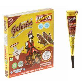 Хна для био тату Golecha Gold Maroon тёмно-бордовая, конус, 25 г