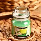 """Свеча в банке """"Зелёный чай и фруктовая страсть"""" 100 гр (вес брутто 247 г) 6х9х9 см"""