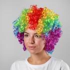 """Карнавальный парик """"Объём"""", цветные кудри, 120 г"""