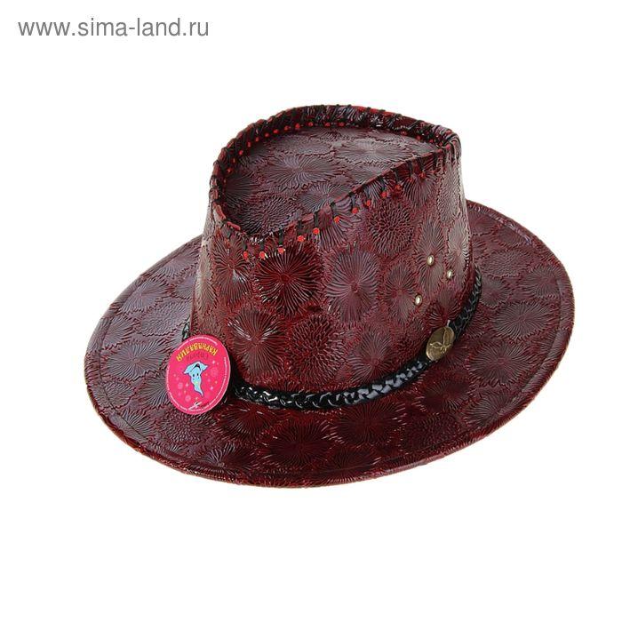 """Шляпа """"Ковбой"""" для девушки, с тесьмой, цвет МИКС"""