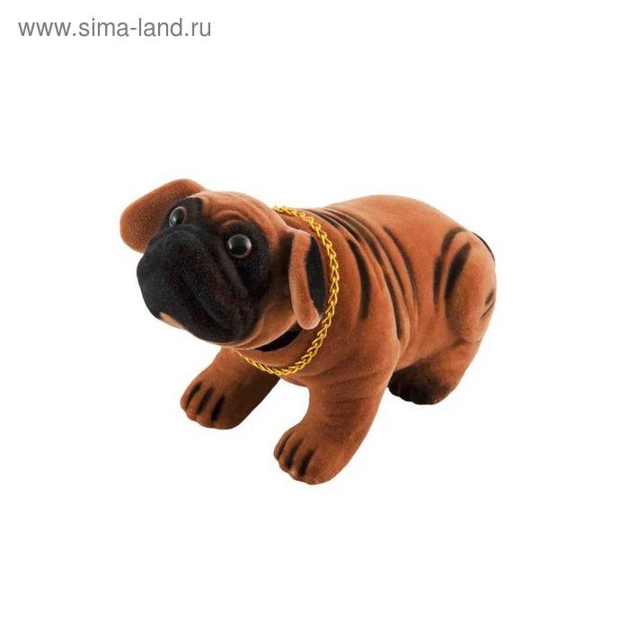 """Собака большая в машину с освежителем SKYWAY """"Ваниль"""", Шарпей коричневый, 13x7,5x9,5 см 2613617"""