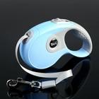 Рулетка DIIL, 3 м, до 10 кг, лента, прорезиненная ручка, голубая с серым