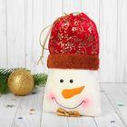 """Подарочная упаковка """"Снеговик"""" с бабочкой, вместимость 500 грамм"""