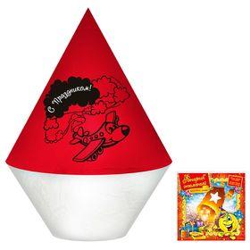 """Небесный фонарик """"С праздником!"""", цвет: красно-белый"""