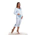 Пижама женская (джемпер, бриджи) ПК99 цвет МИКС, размер 48