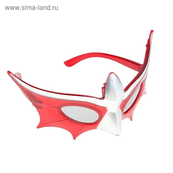 """Карнавальные световые очки """"Рыцаря"""", цвет красный"""
