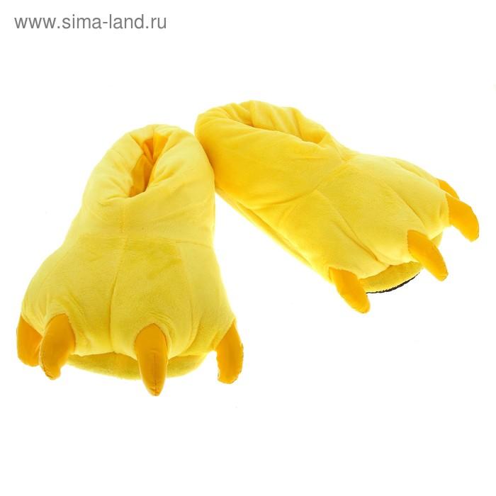 """Тапочки-зверушки """"Лапа монстра"""", цвет жёлтые,"""