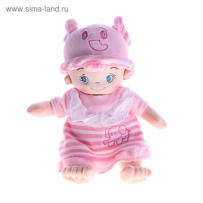 """Мягкая игрушка кукла-пупс в розовом """"Девочка слоник"""""""