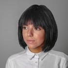 """Карнавальный парик """"Каре"""", цвет чёрный, 100 г"""