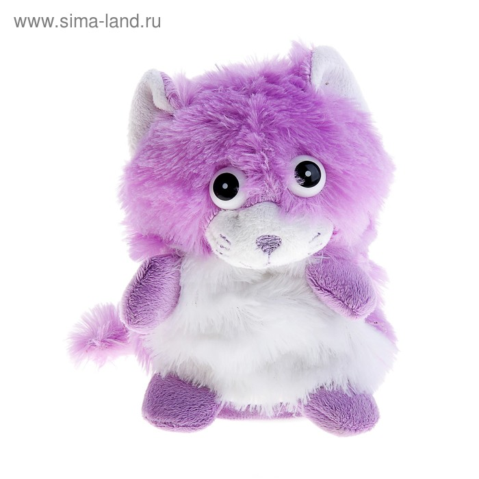 "Мягкая игрушка интерактивная ""Сиреневый котик хохотун"""