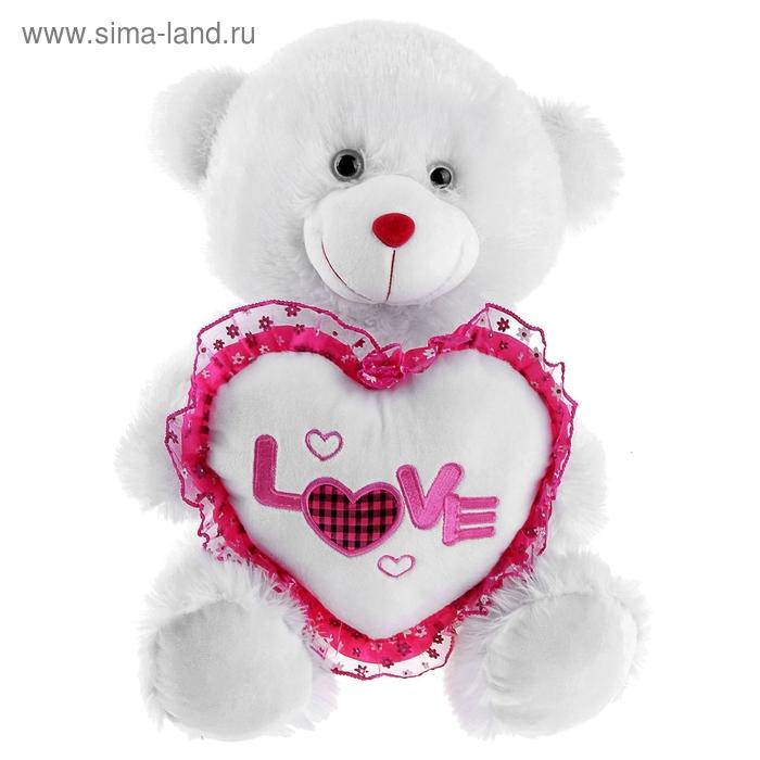 """Мягкая игрушка """"Мишка белый"""" Love"""