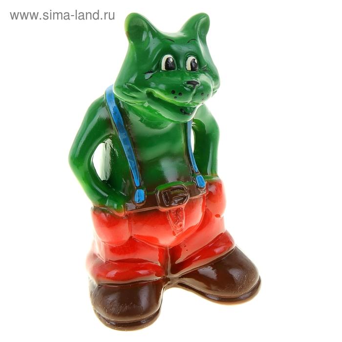 "Копилка ""зелёный кот"" зелёная, глянец"
