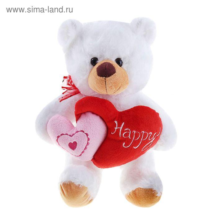 """Мягкая игрушка """"Медведь"""" двойное сердце"""