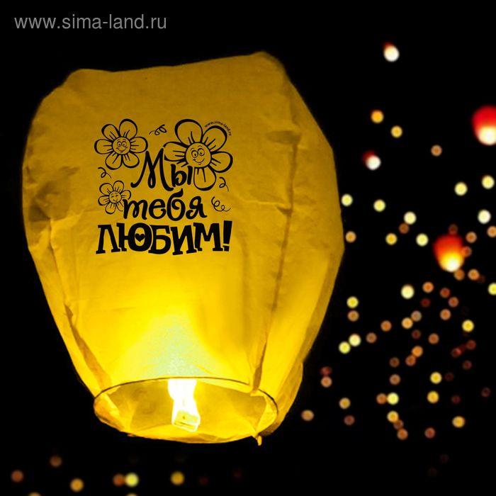 """Небесный фонарик """"Мы тебя любим!"""", уценка, цвета МИКС"""