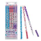 """Ручка """"пиши-стирай"""" гелевая Bloomy, узел 0.5 мм, чернила синие, со стираемыми чернилами, игольчатый пишущий узел"""