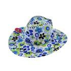"""Карнавальная шляпа """"Ковбой"""", голубые цветочки, р-р 56-58"""
