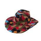 """Карнавальная шляпа """"Ковбой"""", большие цветы, р-р 56-58"""