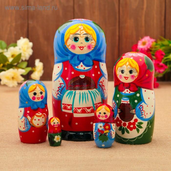 """Матрешка """"Хлеб, соль"""" 5 кукол, художественная роспись"""