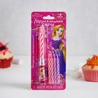 Свечи с музыкальной подставкой, Принцессы: Рапунцель, розовая, 7.5 х 20 см