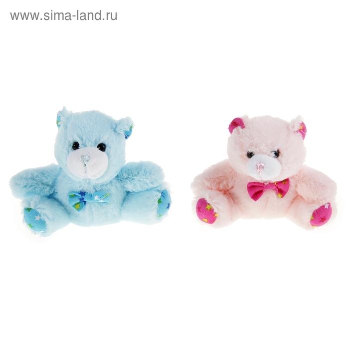 """Мягкая игрушка """"Мишка с бантом"""", цвета МИКС"""