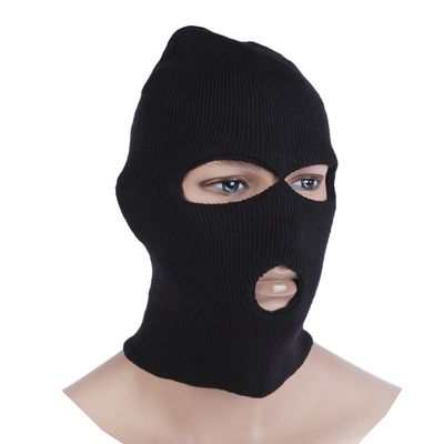 Шлем-маска 3 отверстия, цвет чёрный