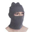 Шлем-маска 1 отверстия, цвет серый