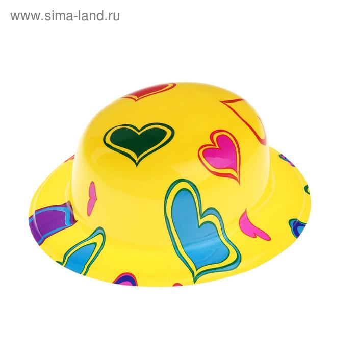 """Карнавальная шляпа """"Сердечки"""" набор(6шт)"""