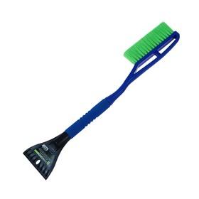 """Щетка со скребком для удаления снега и льда """"Oktan"""", зеленая, 635 мм"""