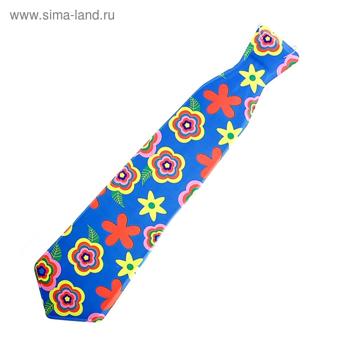 """Карнавальный галстук """"Лето, цветочки"""", матовый, набор 6 шт."""